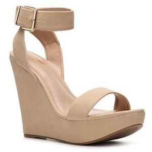 Mix No. 6 Glace Faux Leather Wedges